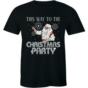 This Way To The Christmas Party Christmas T-shirt